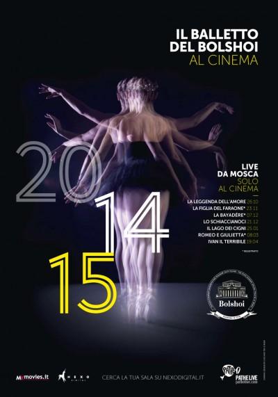 Locandina stagione 2014-2015 del Bolshoi al cinema