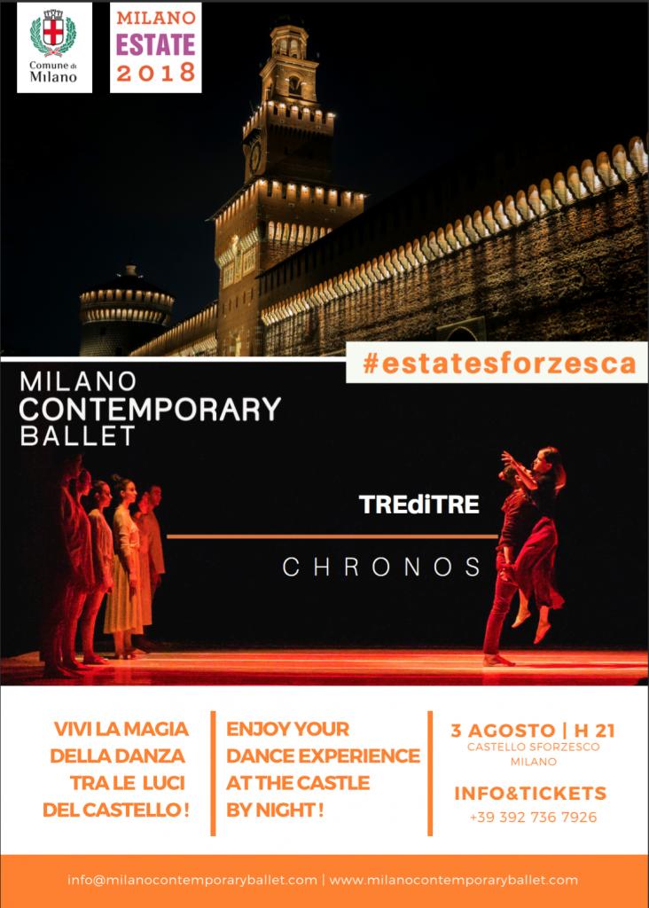 Flyer Estate Sforzesca Milano Contemporary Ballet
