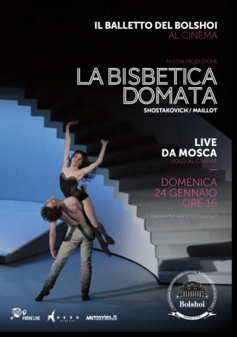 La Bisbetica Domata del Bolshoi al cinema - Locandina