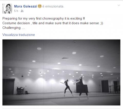 Mara Galeazzi FB Coreografia